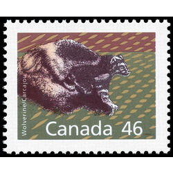 canada stamp 1172a wolverine 46 1990