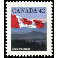 canada stamp 1356 flag over hills 42 1991