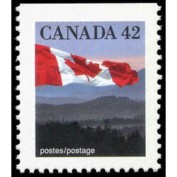 canada stamp 1356as flag over hills 42 1991