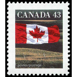 canada stamp 1359 flag over field 43 1992