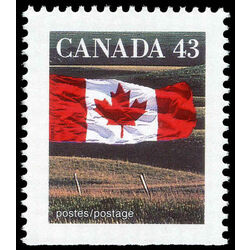 canada stamp 1359as flag over field 43 1992