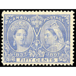 canada stamp 60ii queen victoria jubilee 50 1897 m fnh 006