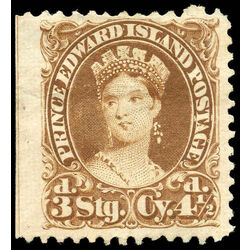 prince edward island stamp 10 queen victoria 4 d 1870 m vf ng 001