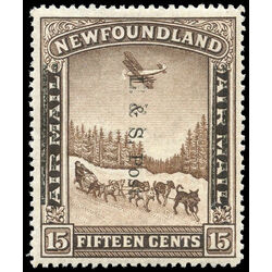 newfoundland stamp 211 dog sled and airplane 15 1933