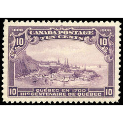 canada stamp 101 quebec in 1700 10 1908 m vf 006