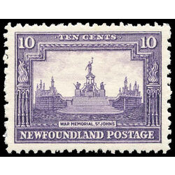 newfoundland stamp 169 war memorial 10 1929