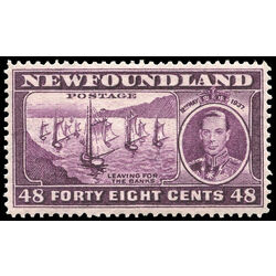newfoundland stamp 243 fishing fleet 48 1937