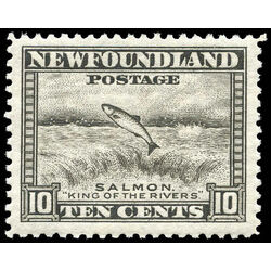 newfoundland stamp 260 salmon leaping falls 10 1943
