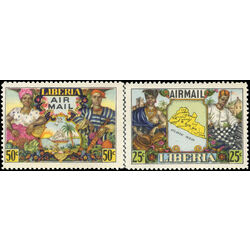liberia stamp c63 4 citizens and agricultural products 1949