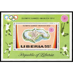 liberia stamp c192 olympic games munich 1972 1972