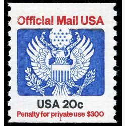 us stamp o officials o135 official mail great seal 20 1983