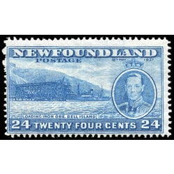 newfoundland stamp 241b loading ore bell island 24 1937