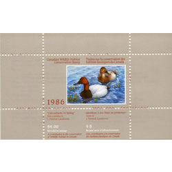 canadian wildlife habitat conservation stamp fwh2 canvasbacks 4 1986