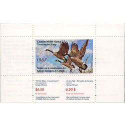 canadian wildlife habitat conservation stamp fwh3 canada geese 6 50 1987