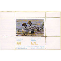 canadian wildlife habitat conservation stamp fwh4 pintails 6 50 1988