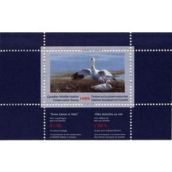 canadian wildlife habitat conservation stamp fwh5 snow geese 7 50 1989