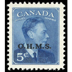 canada stamp o official o15a king george vi postes postage 5 1950