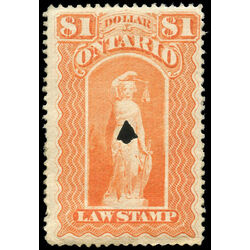 canada revenue stamp ol57 law stamps 1 1870