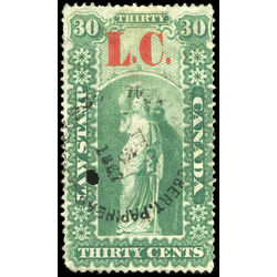 canada revenue stamp ql3 law stamps 30 1864