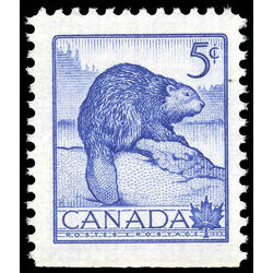 canada stamp 336as beaver 5 1954