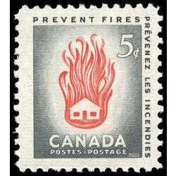 canada stamp 364 house on fire 5 1956