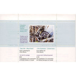 canadian wildlife habitat conservation stamp fwh7 black duck 8 50 1991