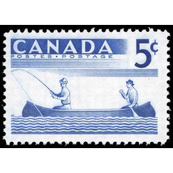 canada stamp 365 fishing 5 1957