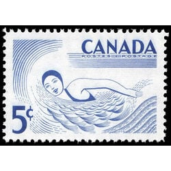 canada stamp 366 swimming 5 1957