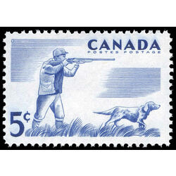 canada stamp 367 hunting 5 1957