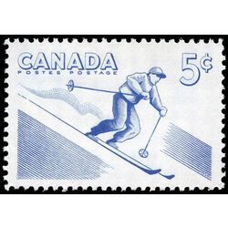 canada stamp 368 skiing 5 1957
