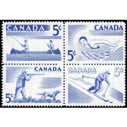 canada stamp 368a recreation sports 4 x 5 1956