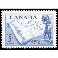canada stamp 370 thompson and map 5 1957
