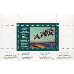 canadian wildlife habitat conservation stamp fwh12 goldeneyes 8 50 1996