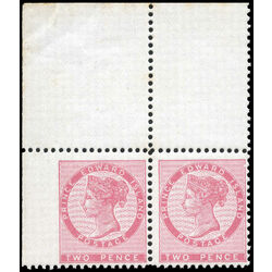 prince edward island stamp 5v queen victoria 2d 1862 m fnh 001