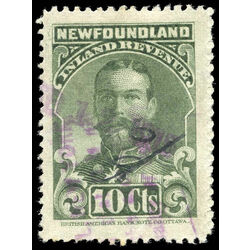 canada revenue stamp nfr17b king george v 10 1910 u f 001
