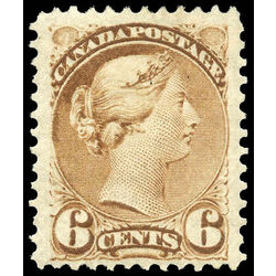 canada stamp 39 queen victoria 6 1872 m vf 014
