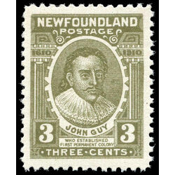 newfoundland stamp 89 john guy 3 1910