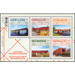 canada stamp 3180 historic covered bridges 4 50 2019
