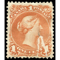 canada stamp 22 queen victoria 1 1868 m f damaged 011