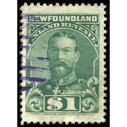canada revenue stamp nfr20a king george v 1 1910
