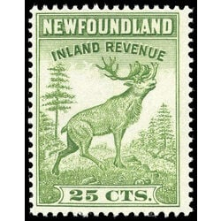 canada revenue stamp nfr48 caribou 25 1966
