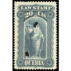 canada revenue stamp ql33 law stamps 20 1893
