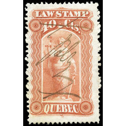 canada revenue stamp ql18 law stamps 40 1871