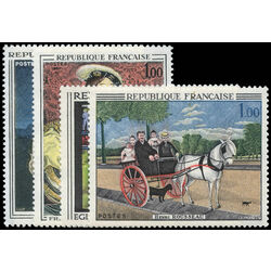 france stamp 1172 5 paintings 1967