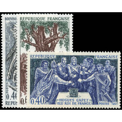 france stamp 1199 1201 kings of france 1967