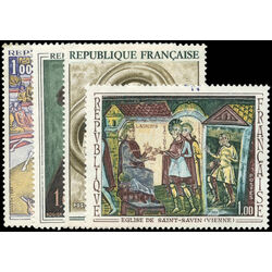 france stamp 1236 9 paintings 1969
