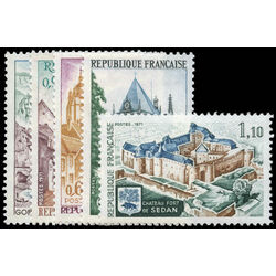 france stamp 1310 4 chateau and fort de sedan sainte chapelle and pont d arc 1971
