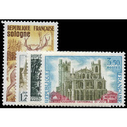 france stamp 1334 7 saint just cathedral and charlieu abbey 1972