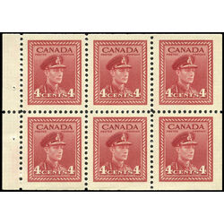 canada stamp 254a king george vi in army uniform 1943