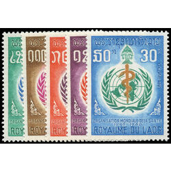 laos stamp 163 7 who 20th anniversary 1968